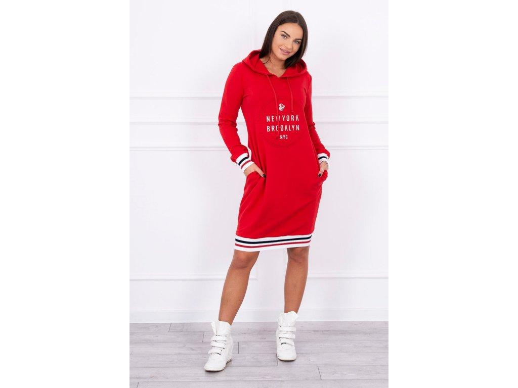 Dámské šaty/dlouhá mikina červená