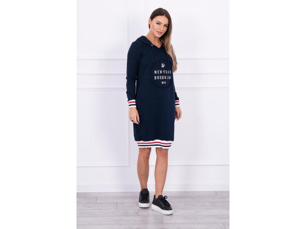 Dámské šaty/dlouhá mikina námořnická