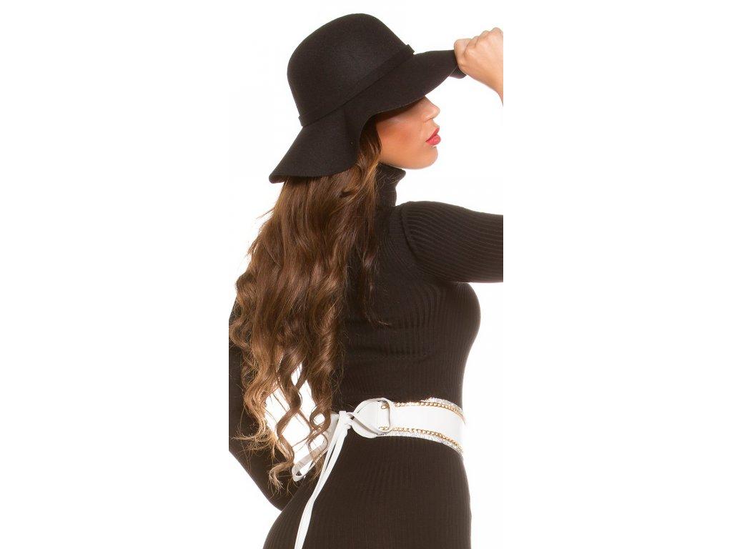 Dámský klobouk černý uni