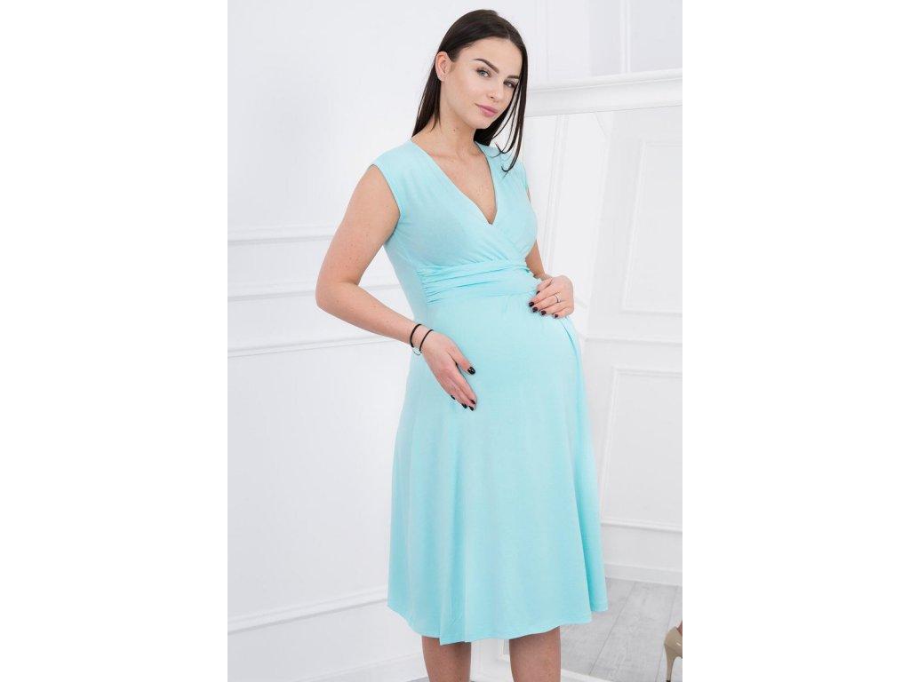 Midi šaty s rozšířenou sukýnkou mint