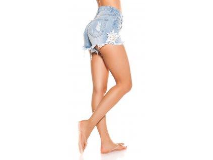 Dámské džínové šortky s trháním