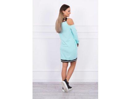 Dámské mikinové šaty mint