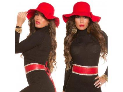 Dámský klobouk červený KouCla