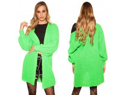 Dámský pletený cardigan zelený
