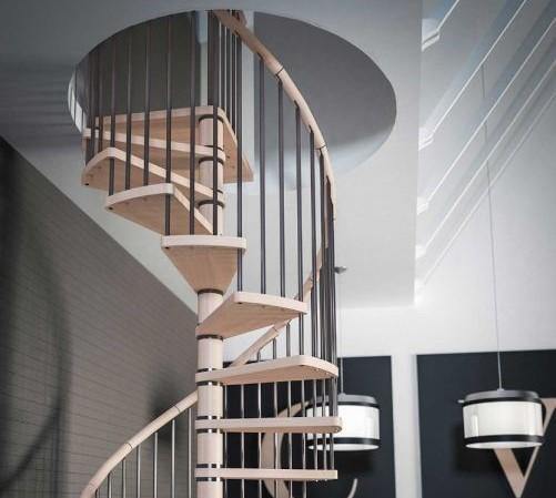 Dřevěné točité schody