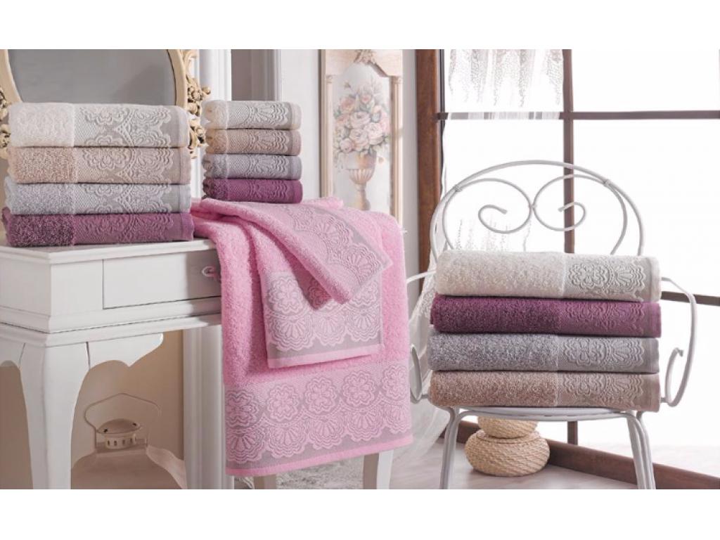 Bavlněná sada ručník + osuška (500g) - bílá