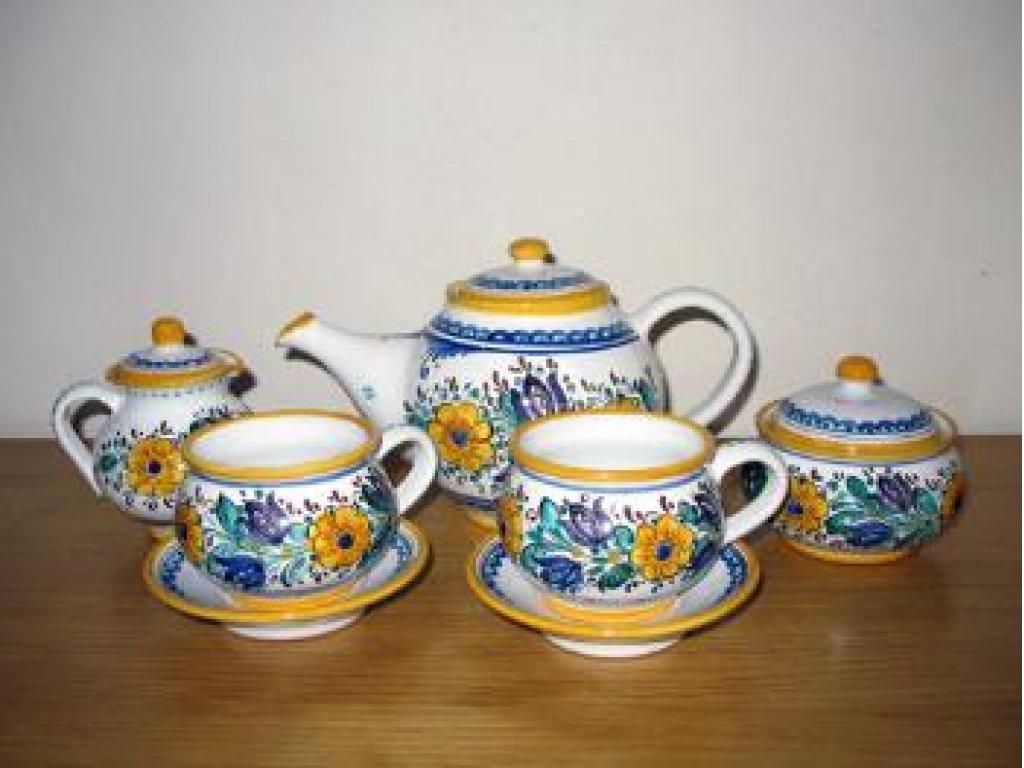 Čajová souprava - habánská keramika