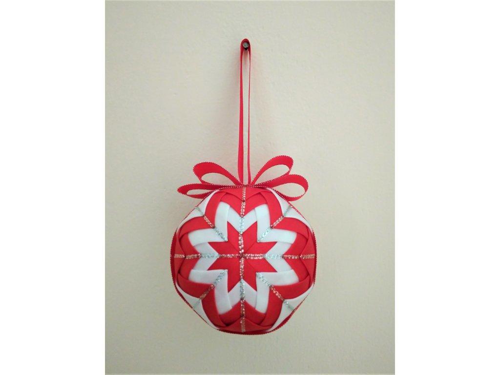 Dekorativní baňka červená 17, vánoční