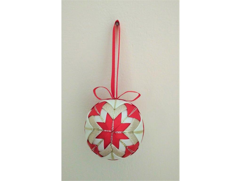 Dekorativní baňka červená 22, vánoční, malá