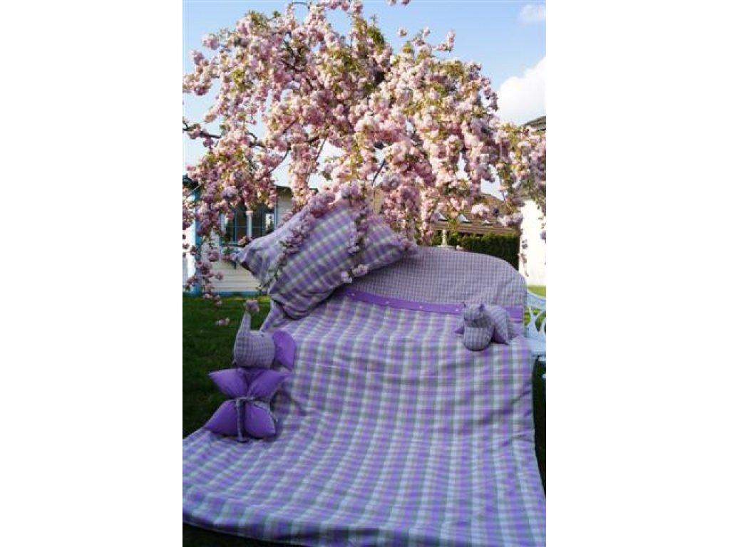 Kanafas povlečení Viola,růžový proužek K2/K 0,5přikrývka 140x200 +polštář 70x90