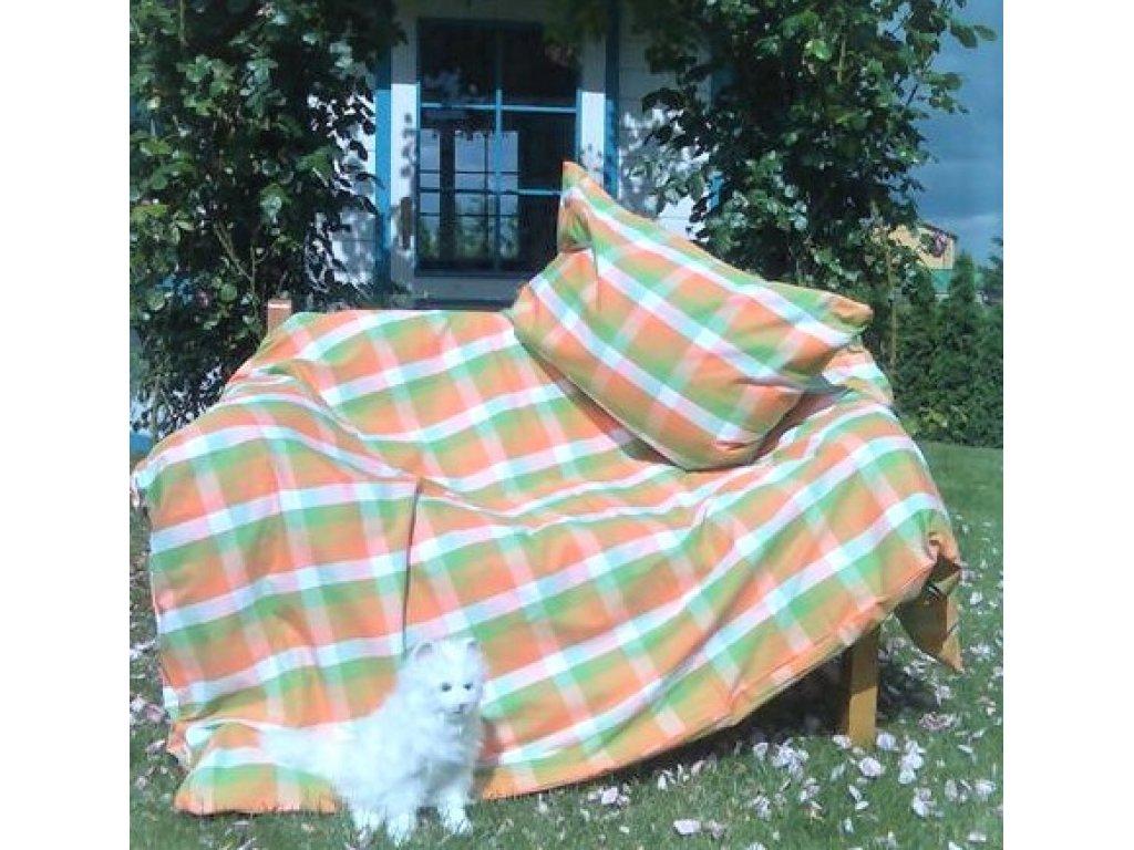 Kanafasové povlečení  Léto,  přikrývka 140x200 +polštář 70x90