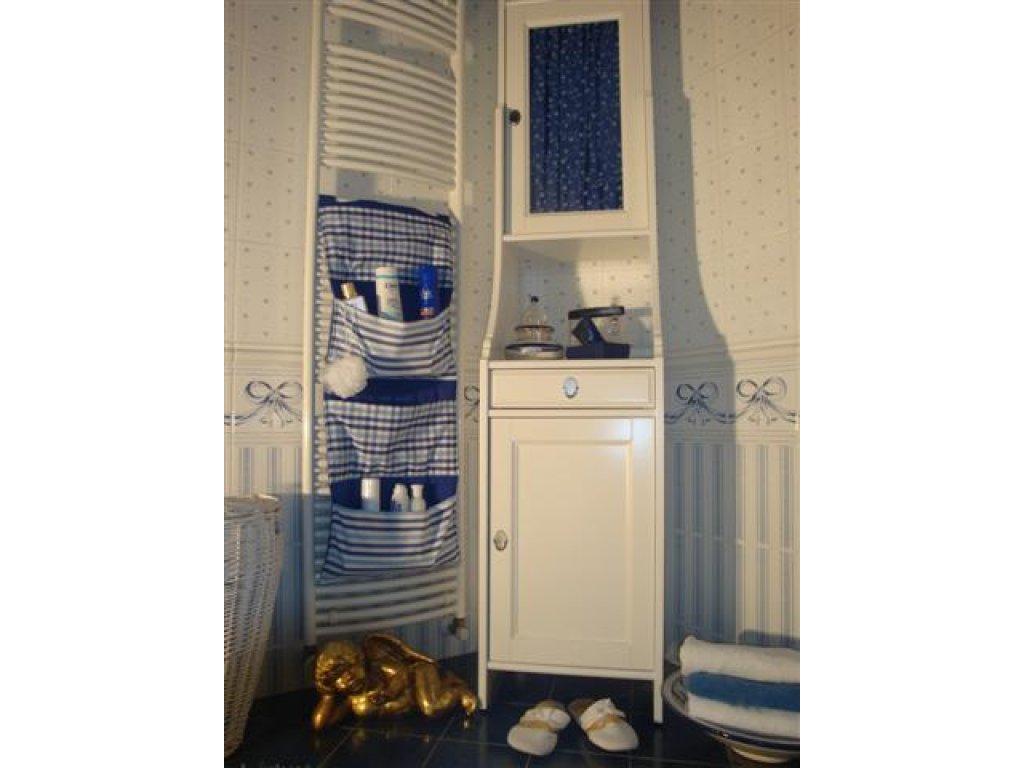 Kanafasový kapsář Majka+modrá royal, 90x40 cm