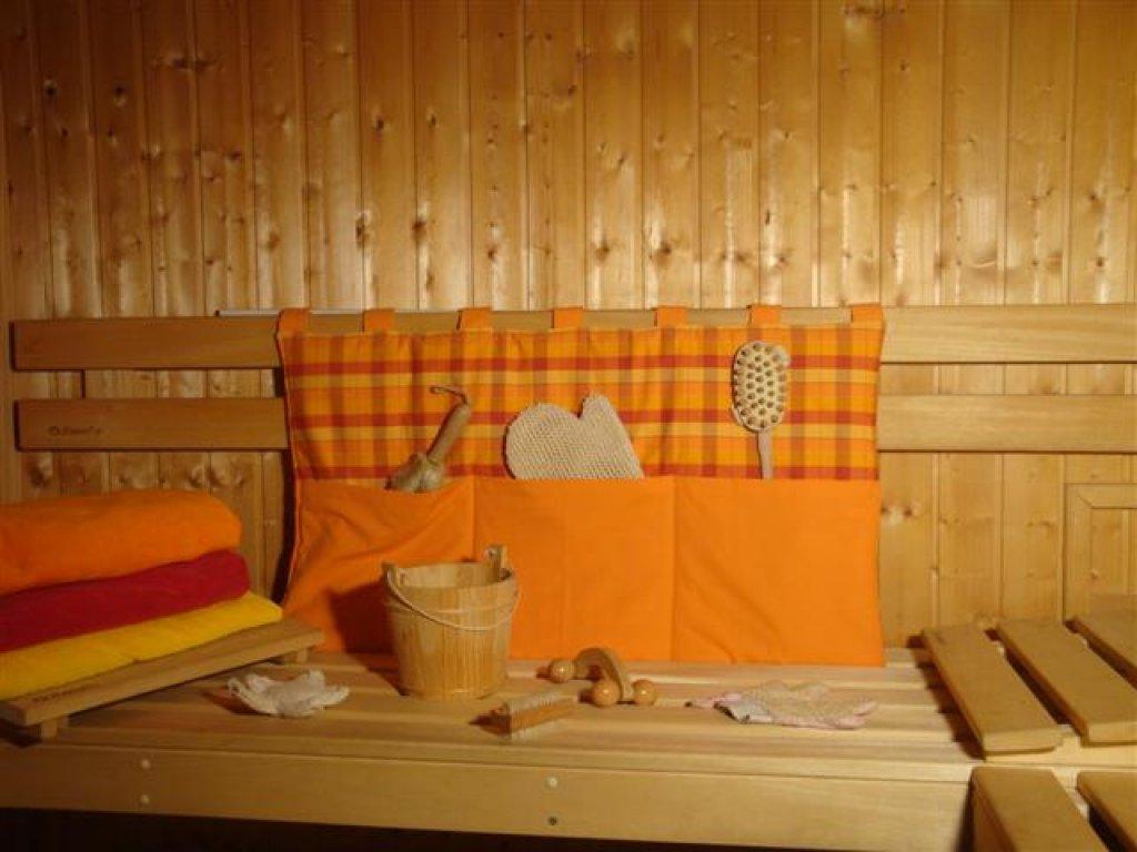 Kanafasový kapsář Monika+oranž, 90x50 cm