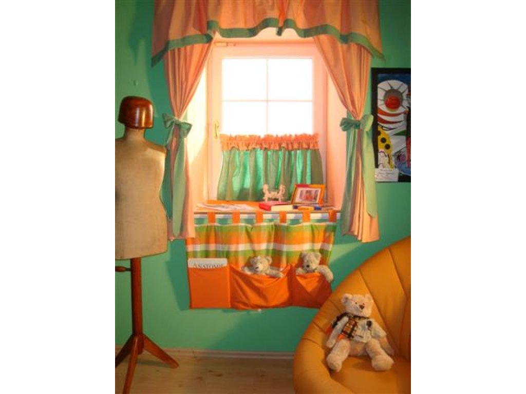 Kapsář kanafas léto, oranžová a zelená, 90x50 cm