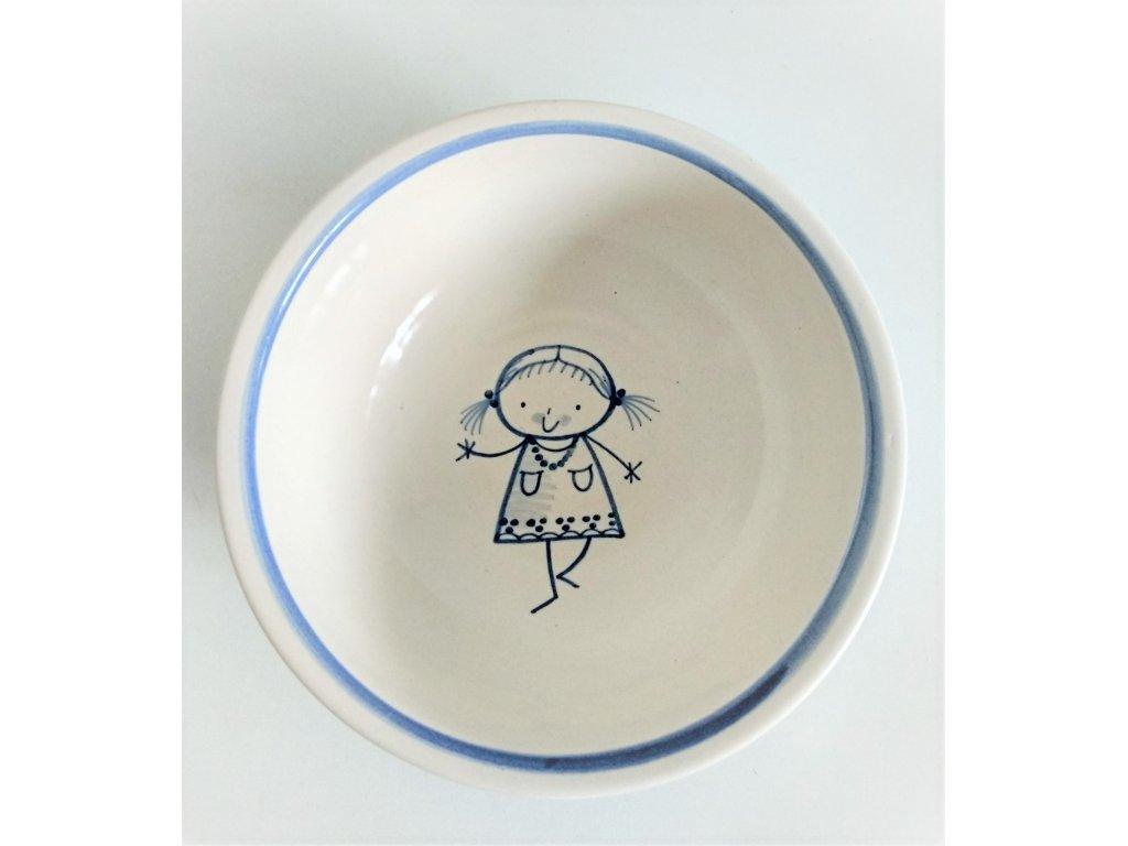 Keramická miska pro malé holky - v běhu