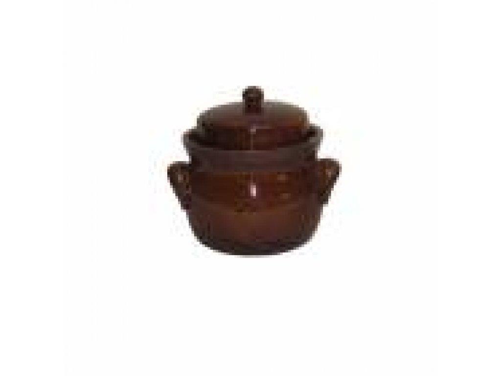 Keramická nádoba na ukládání zelí, Zelák buclák s uchy 2 litry