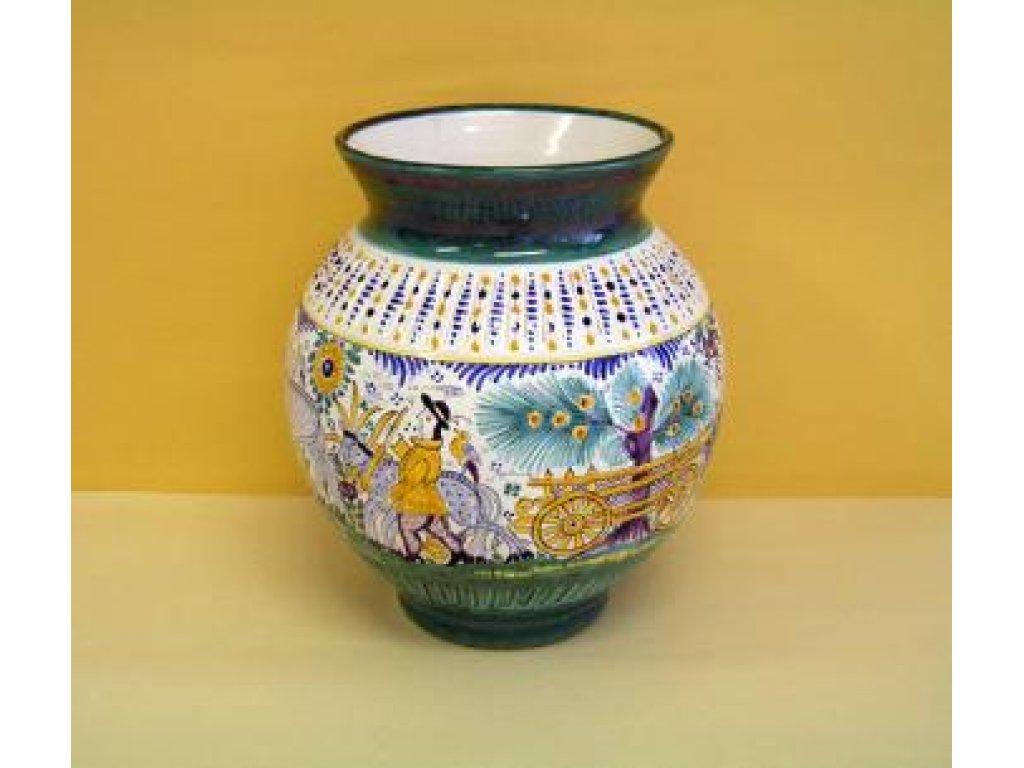 Keramická váza habánská , figurální