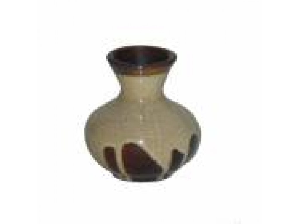 Keramická váza KK 22 šířka-7 cm výška-8cm hnědá polévaná,kamenina