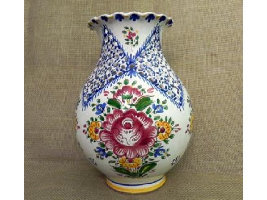 Keramická váza řezaná - velká, slovácká
