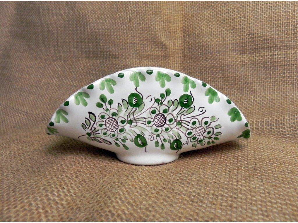 Keramický stojánek na ubrousky, zeleno-bílý