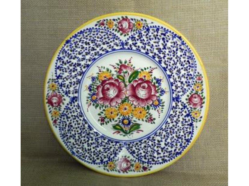 Keramický talíř - řezaný, slovácký