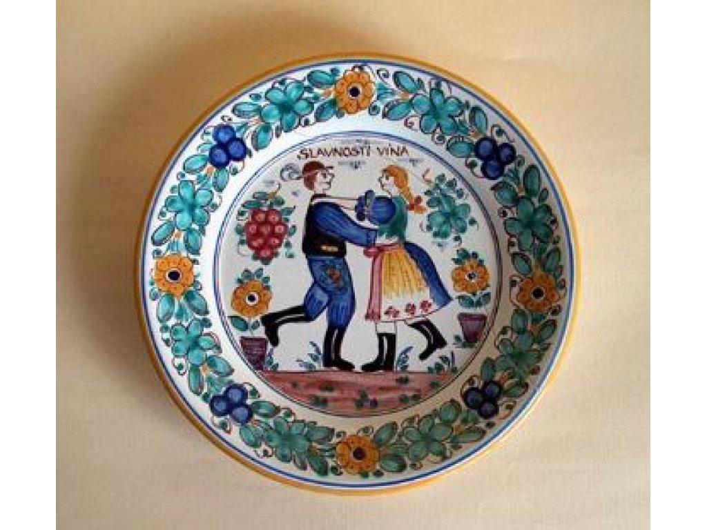 Keramický talíř slavnosti vína