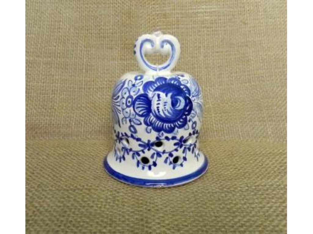 Keramický zvoneček modrý