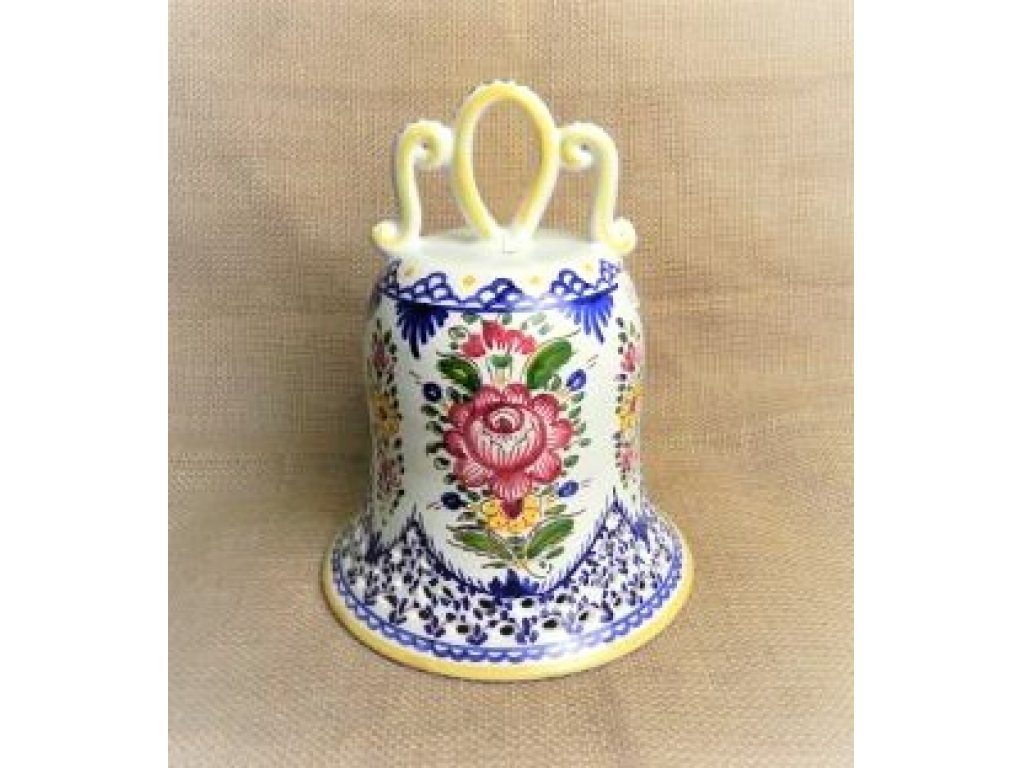 Keramický zvonek malovaný