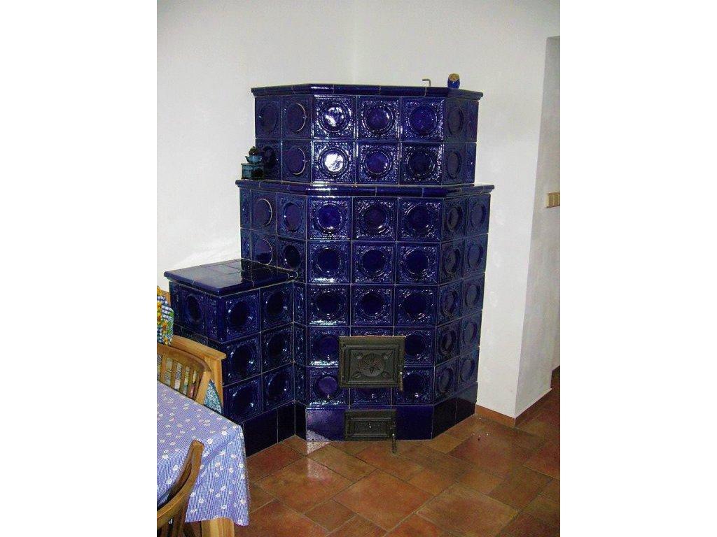 Pokojová kachlová kamna Šimon,  modrá