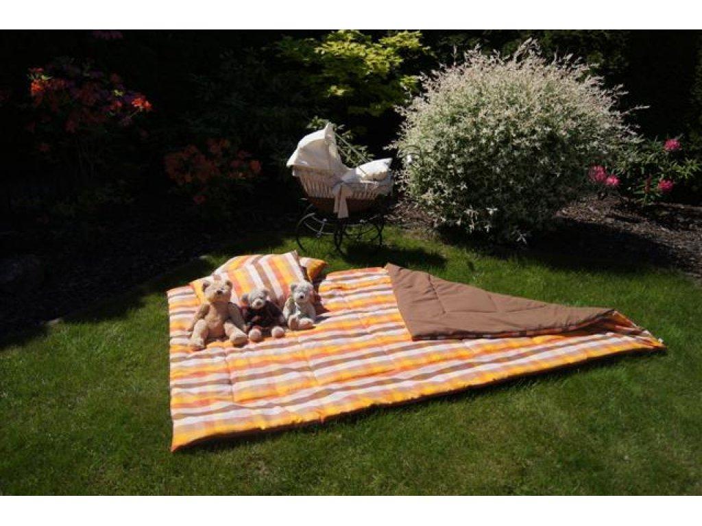 Přehoz na postel, Tereza+čokoláda, 140x200 cm, bavlna, kanafas