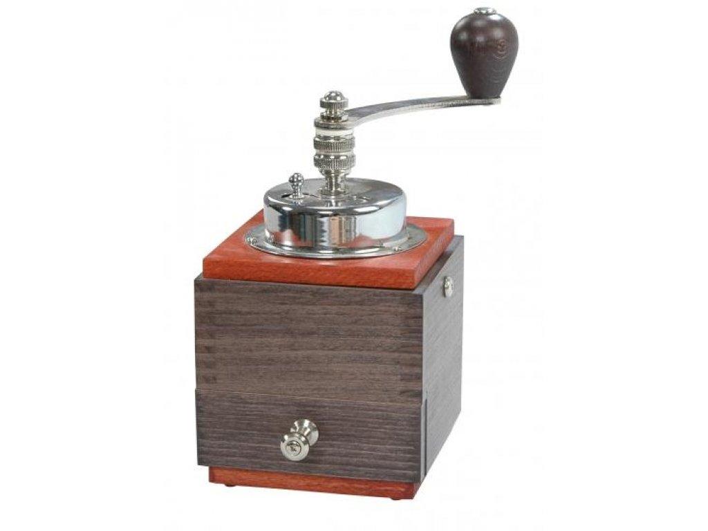 Ruční mlýnek na kávu dřevěný, 1945 losos/wenge, 20x10x10 cm