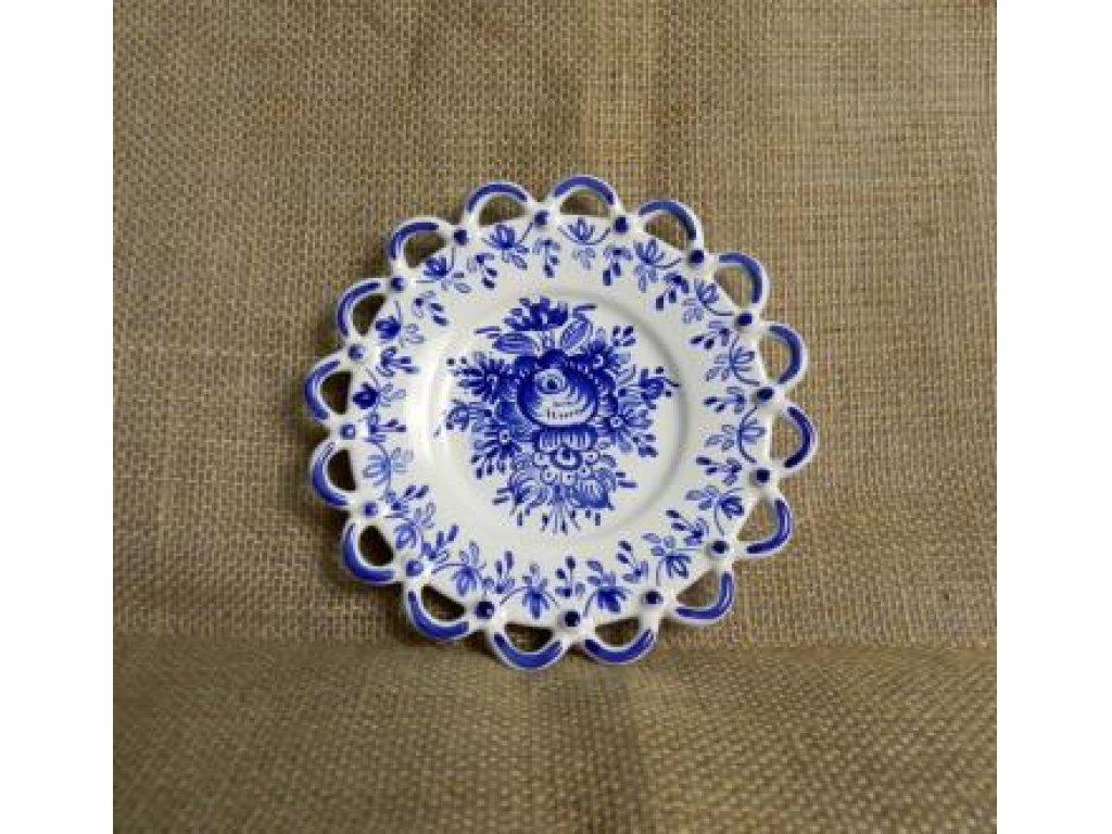 Slovácký keramický talířek s krajkou