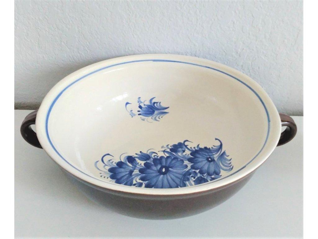 Zadělávačka modrý květ, průměr 28 cm 1.