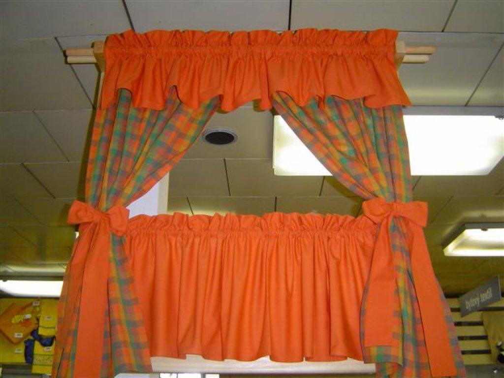 Závěs a záclonka do okna Julie+rezavá, 100x110 cm