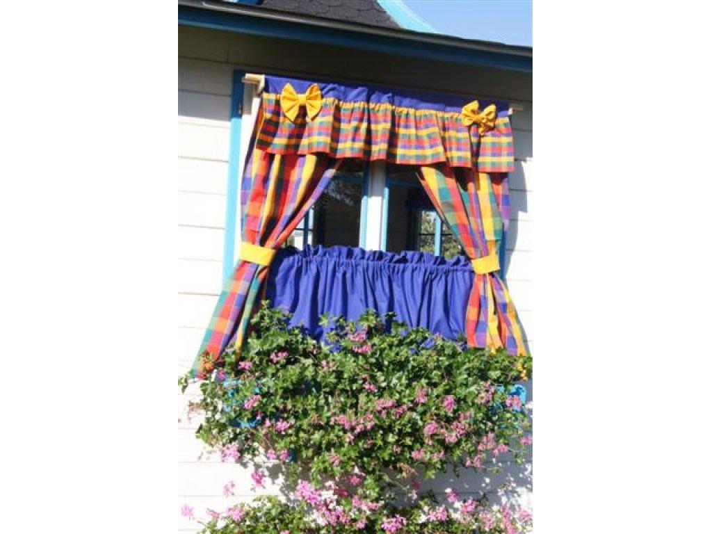 Závěs a záclonka do okna Tomáš+modrá brilant, 100x110 cm