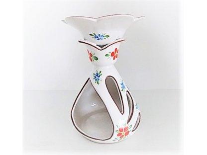 Chodská keramická aromalampa květ