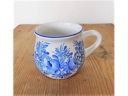 Chodský keramický hrnek modře malovaný - 0,35 l