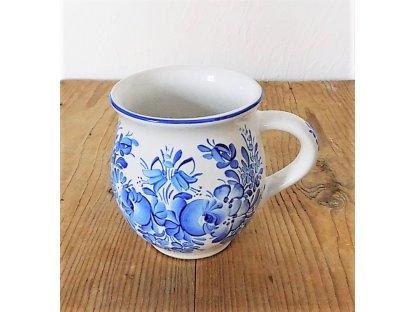 Chodský keramický hrnek modře malovaný 3.