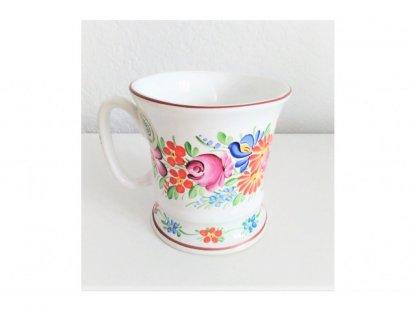 Chodský keramický hrnek s květinami na čaj nebo kávu 0,25 l