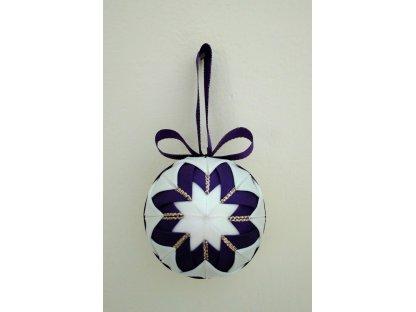 Dekorační baňka fialová 13, vánoční, malá