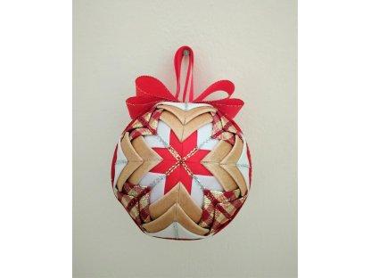 Dekorativní baňka červená 15, vánoční