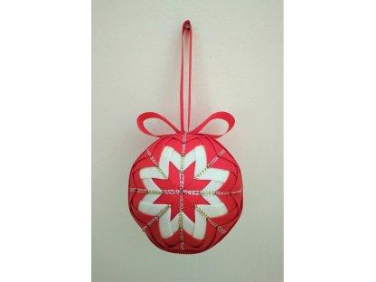 Dekorativní baňka červená 16, vánoční