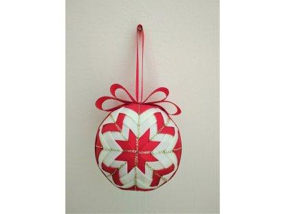 Dekorativní baňka červená 18, vánoční