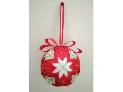 Dekorativní baňka červená 19, vánoční