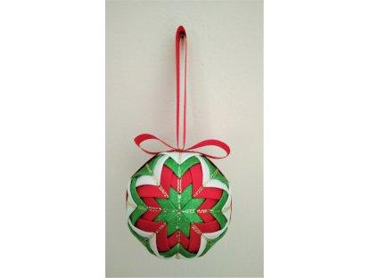 Dekorativní baňka červená 21, vánoční