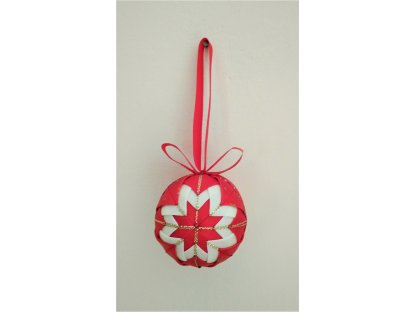 Dekorativní baňka červená 23, vánoční, malá