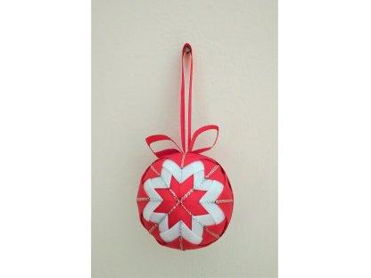 Dekorativní baňka červená 26, vánoční, malá