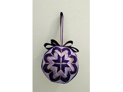 Dekorativní baňka fialová 1, vánoční