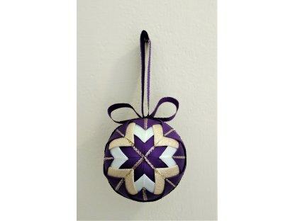 Dekorativní baňka fialová 10, vánoční, malá