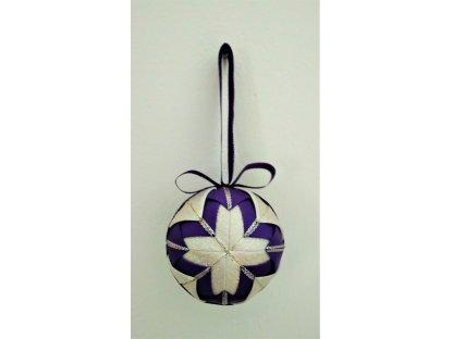 Dekorativní baňka fialová 12, vánoční, malá